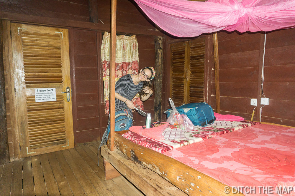 Inside Our Bungalow in Mondulkiri, Cambodia