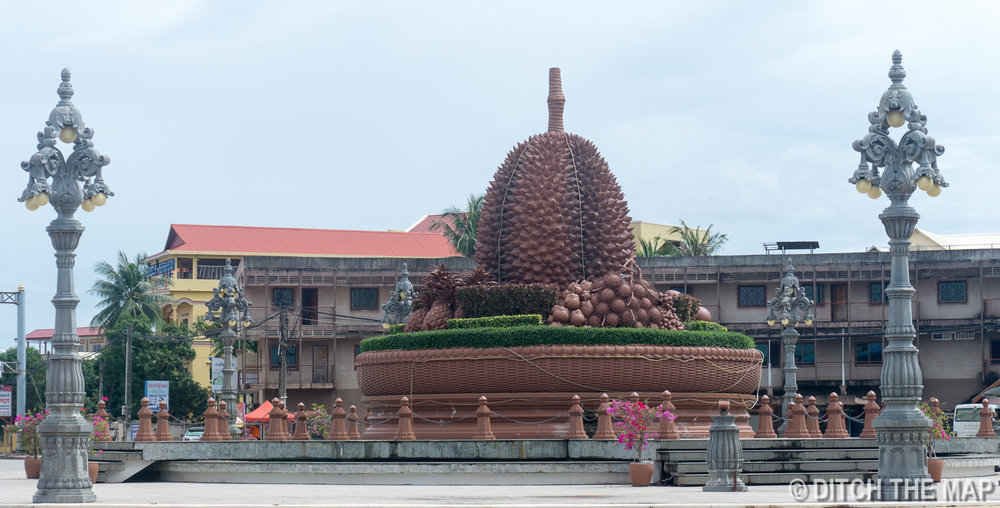 Durian Circle in Kampot, Cambodia