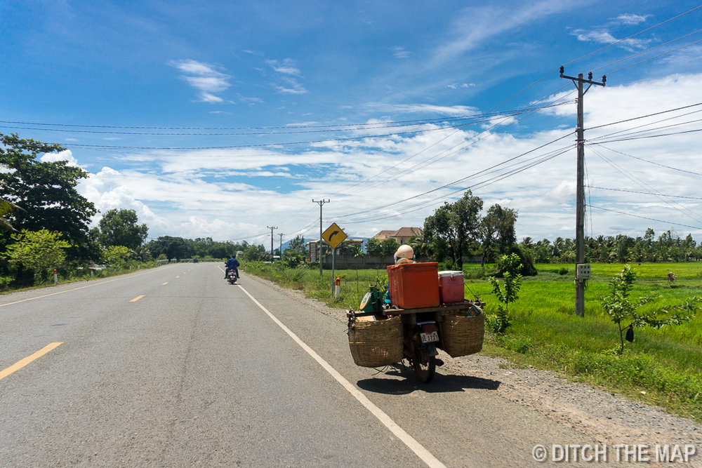 Taking a joyride from Kep to Kampot, Cambodia