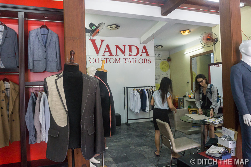 Vanda Tailors in Hoi An, Vietnam