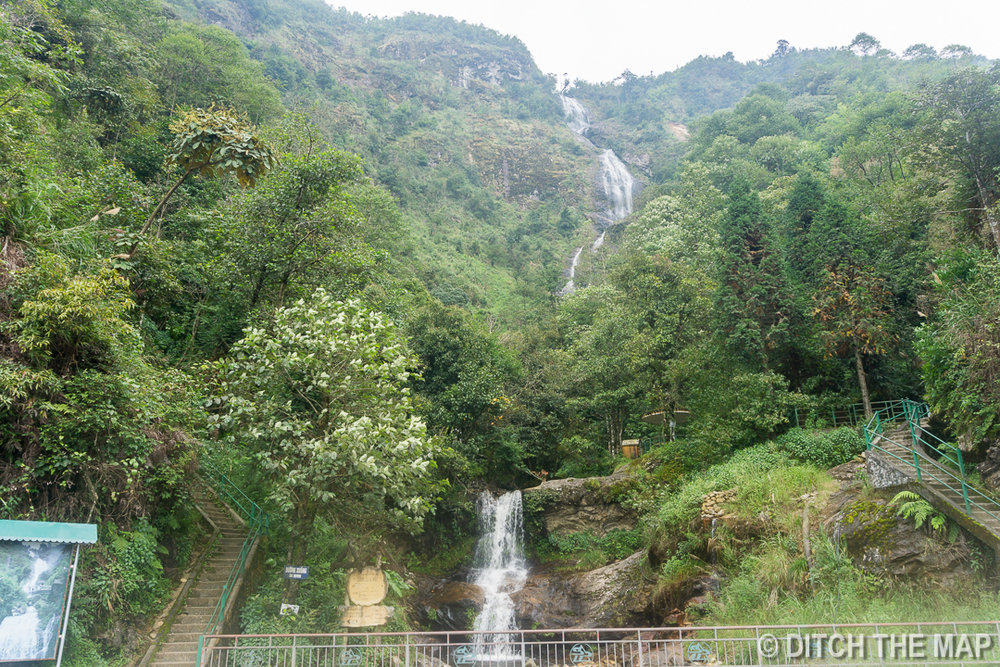 Silver Waterfall in Sapa, Vietnam