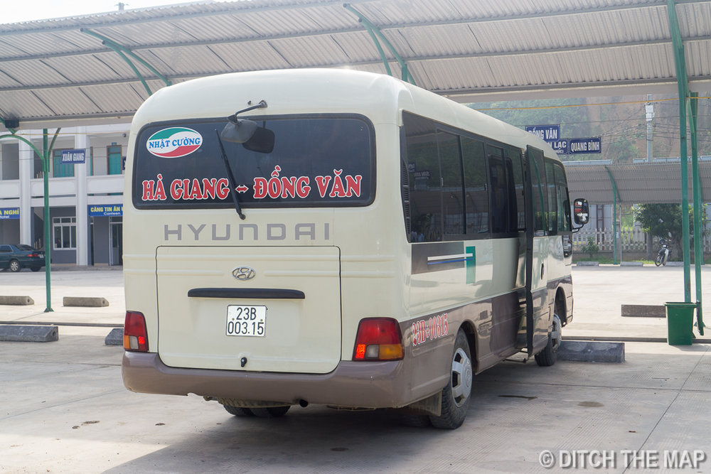 Our Bus from Ha GIang City to Dong Van, Vietnam