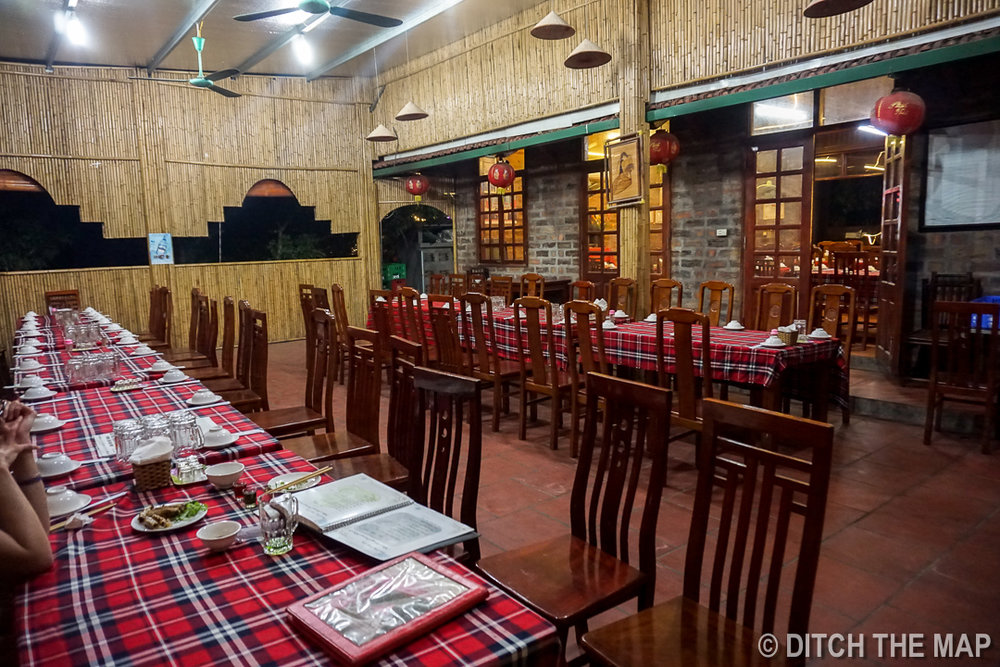 Empty Restaurant in Le Mat Village, Hanoi, Vietnam