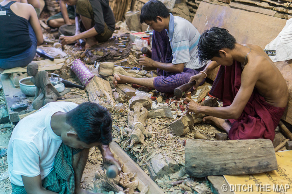 Woodworking Workshop in Mandalay, Myanmar