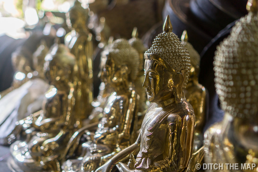 Brass Buddha Statues in Mandalay, Myanmar