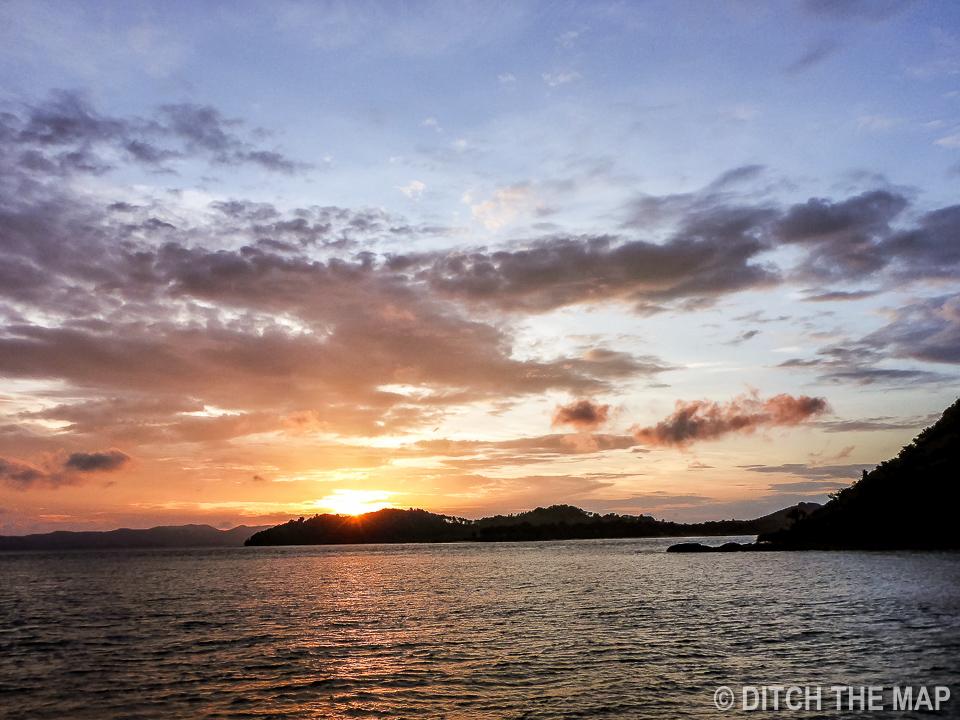 Early Morning Sunrise in the Bay, Phuket, Thailand