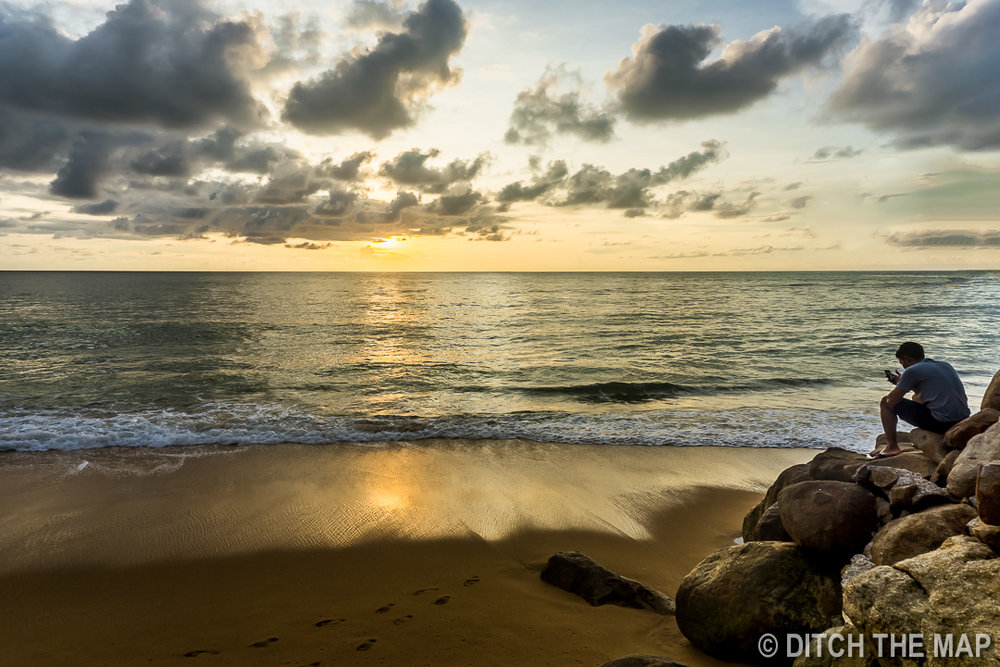 Watching Sunset in Khao Lak, Thailand