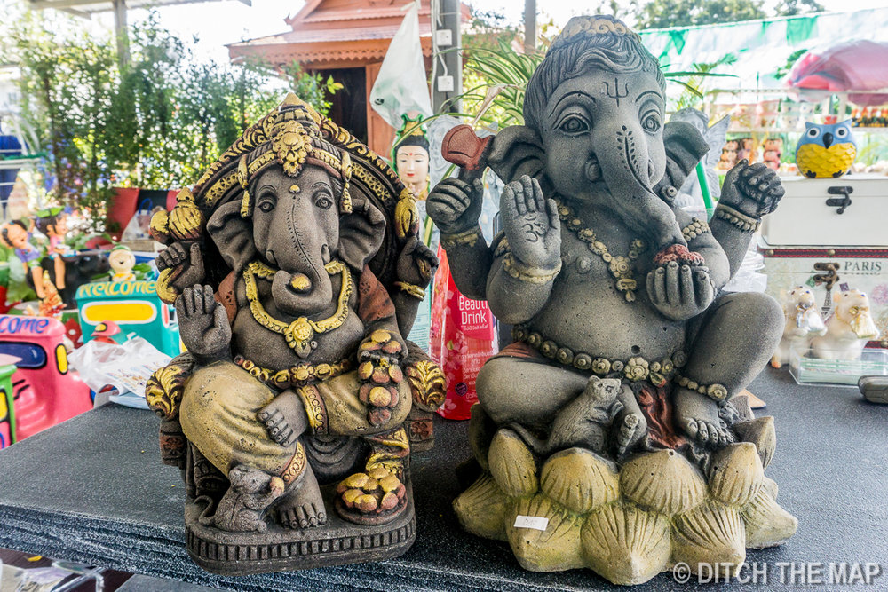 The Ganesh Statue (left) That Will Get Added to our Yoga Sanctuary Back Home