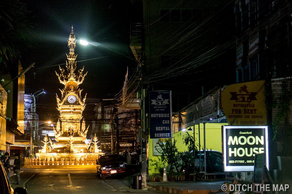 Central Clock Tower in Chiang Rai, Thailand