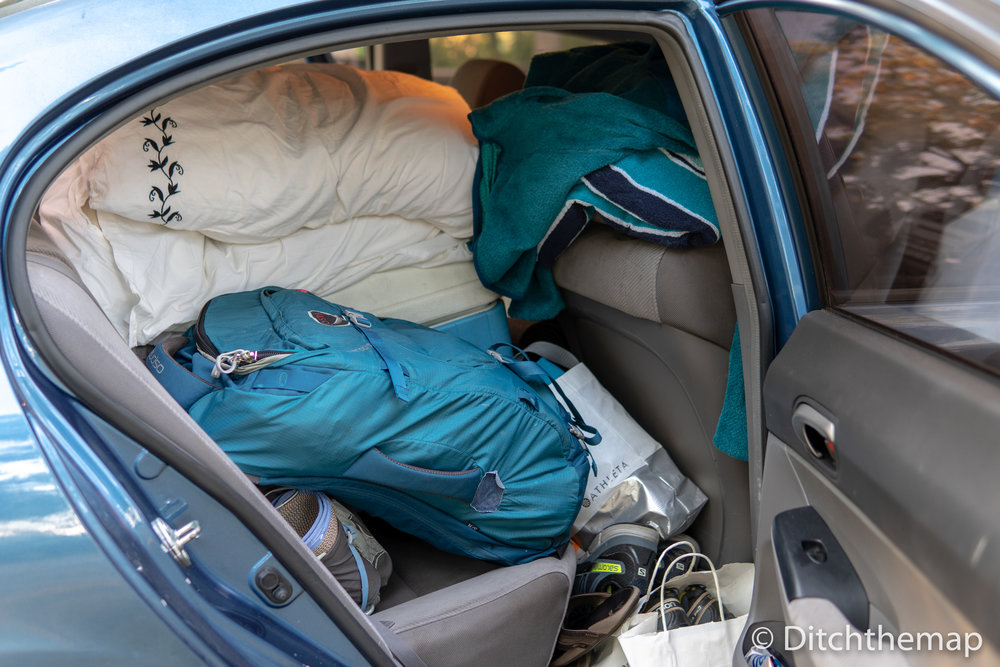 Packing the car to the brim