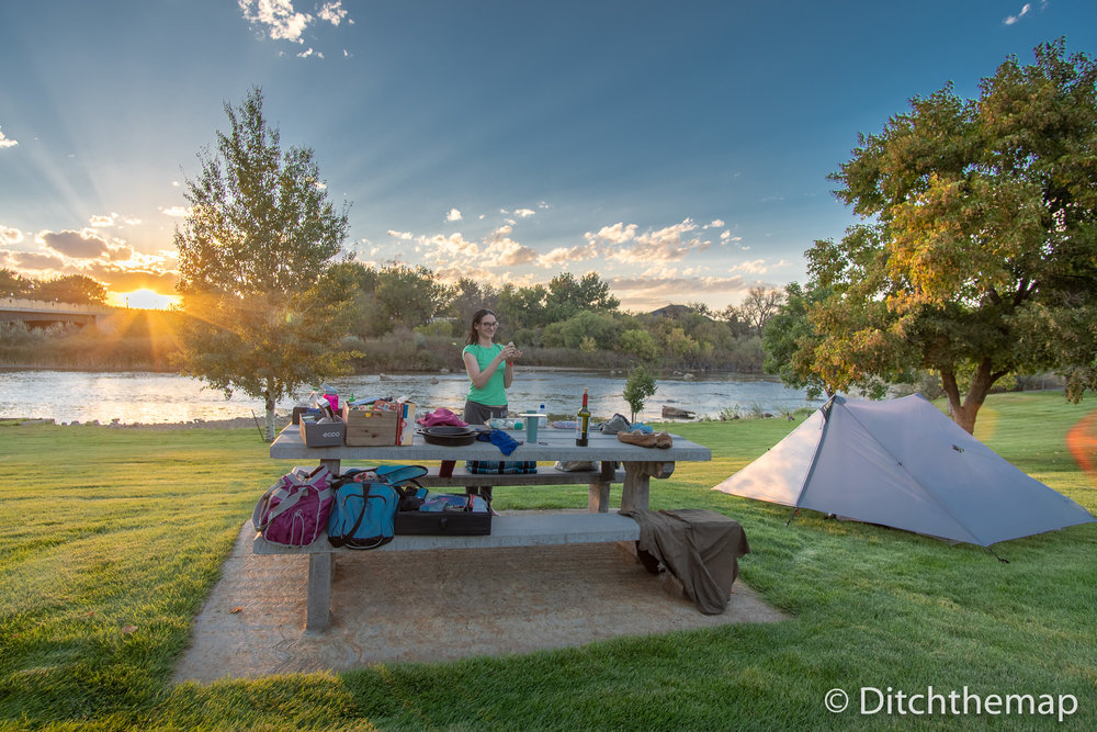 Free Campside During Cross Country Trip in Wyoming