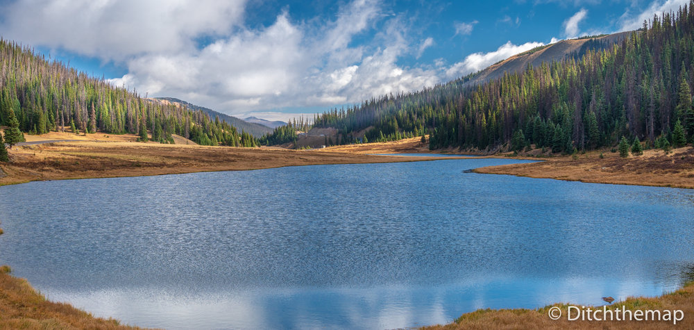 Lake at Milner Pass at the Continental Divide in the Rocky Mountain National Park, Colorado