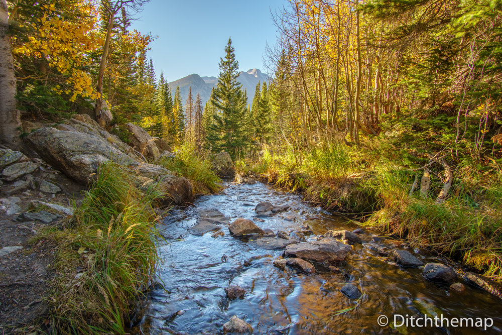 A Stream running through the Rocky Mountain National Park