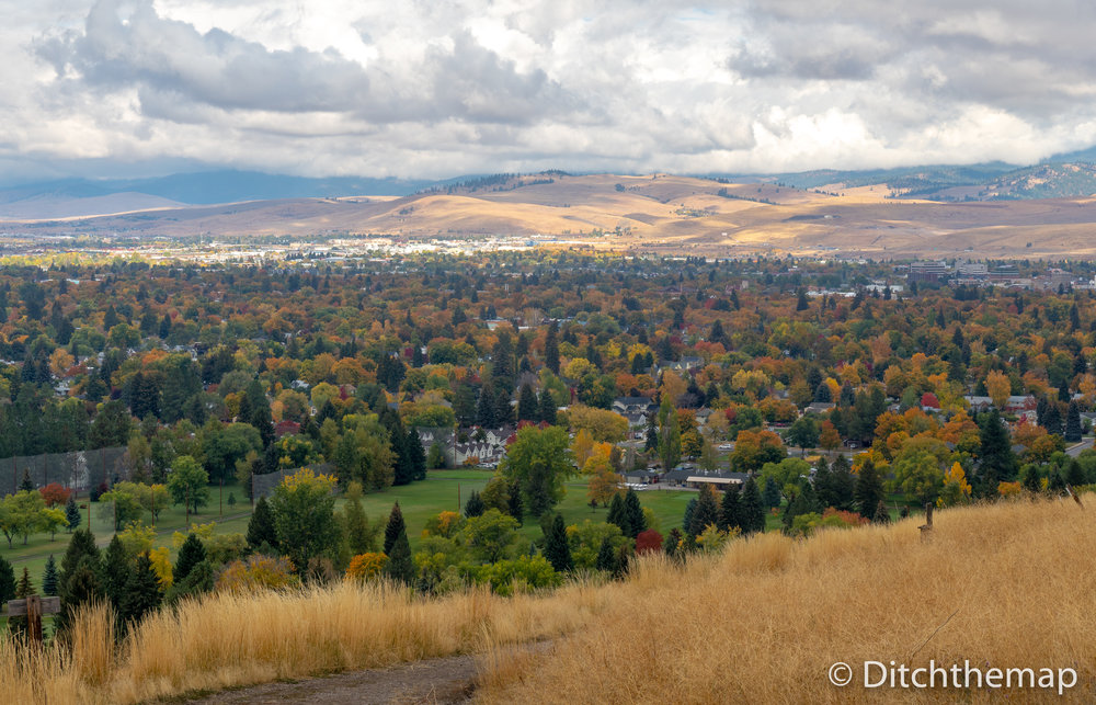 City of Missoula, Montana during autumn
