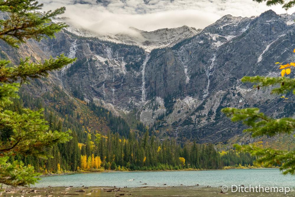 View at Avalanche Lake, Glacier National Park, Montana, USA