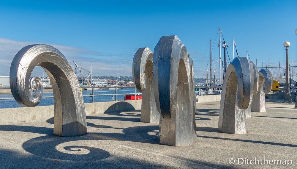 Metal Sculptures at the Ballard Locks