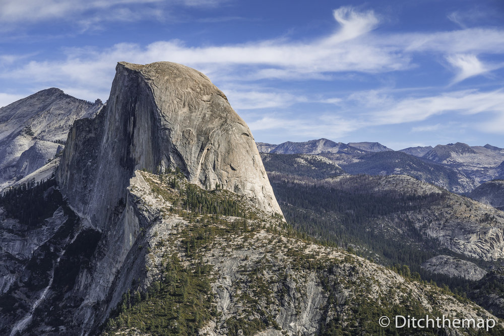 Scenic landscape of Yosemite's Half Dome