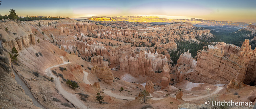 Watching The Sunset Go Down at Sunset Point, Bryce Canyon, Utah