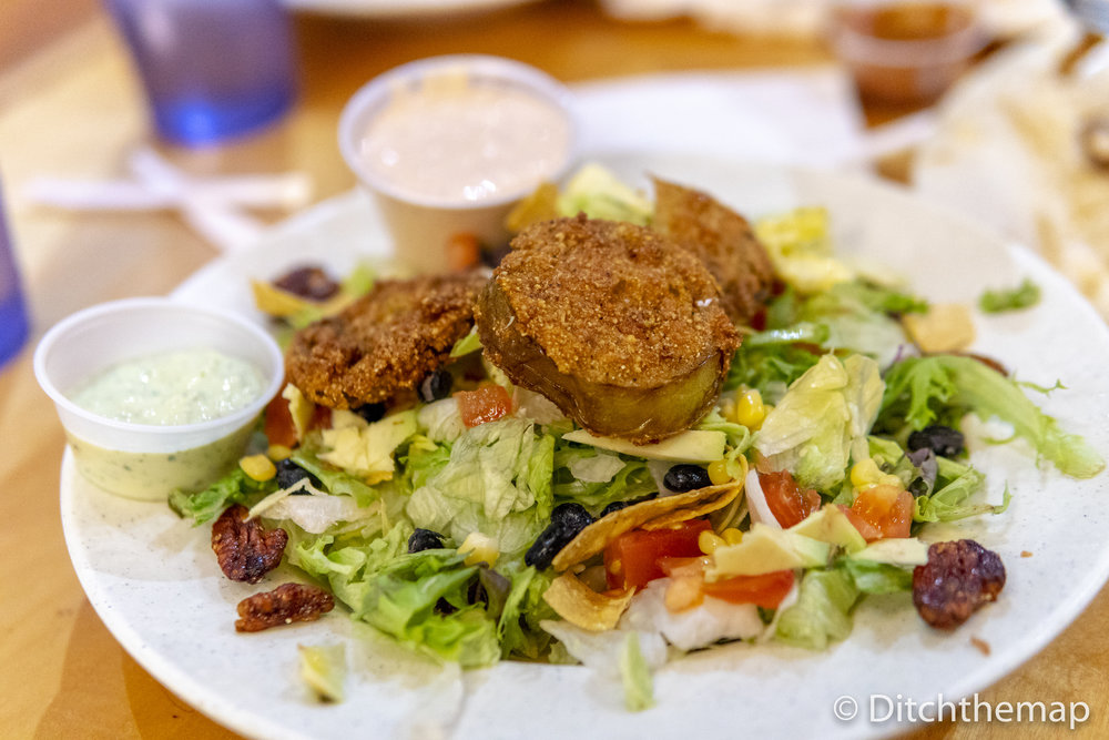 Southwestern Salad w/ Fried Green Tomatoes
