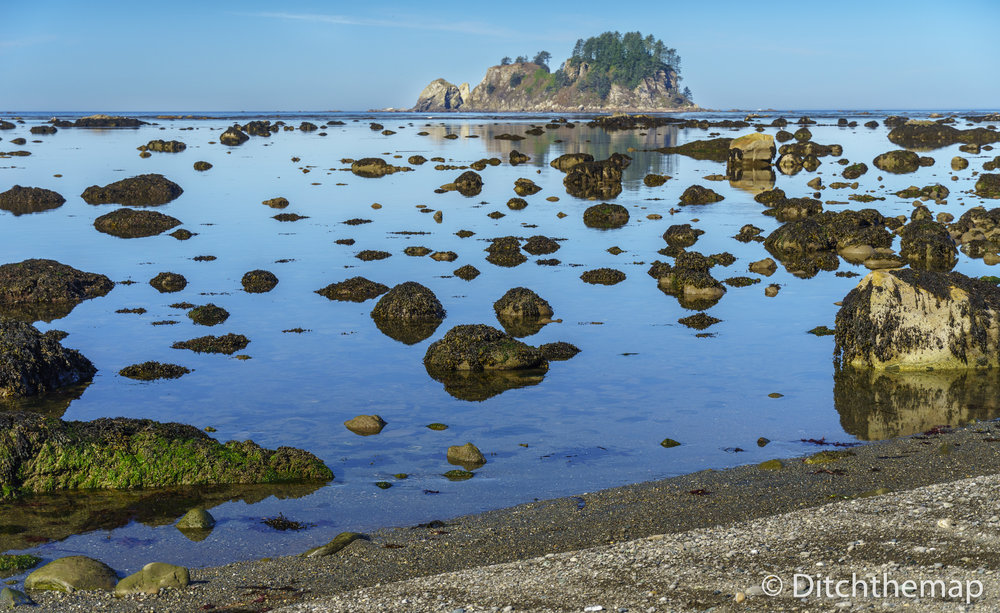 Along the rocky Washington coastline