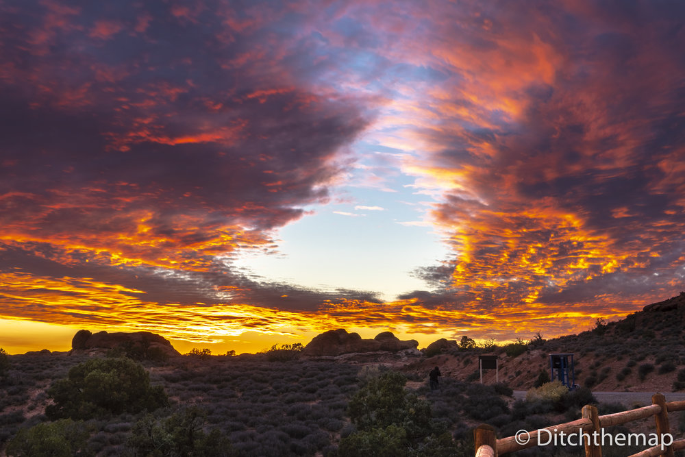 Sunset Landscape in Arches