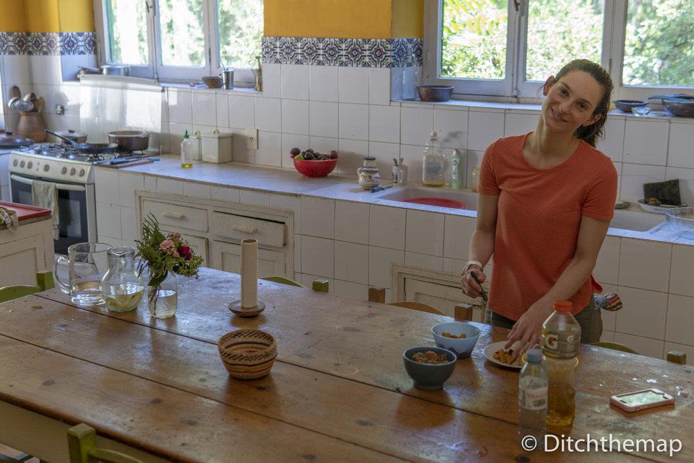 preparing food in the kitchen