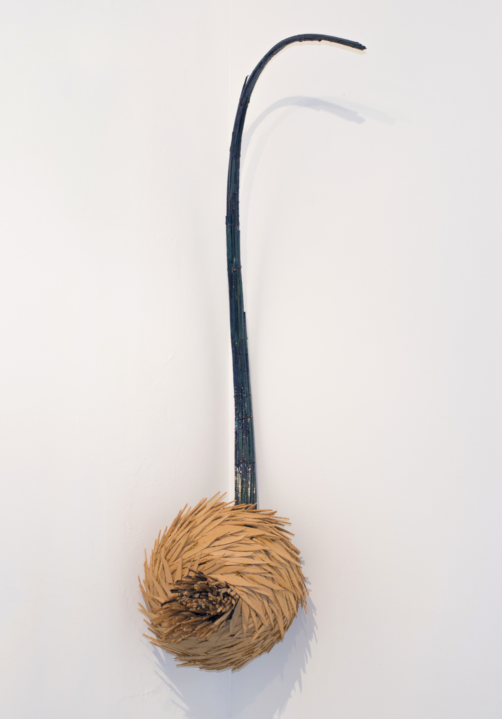 Fritz Dietel    Thistle  ,  2004   Oak, maple, pigmented epoxy 60 x 24 x 24 inches