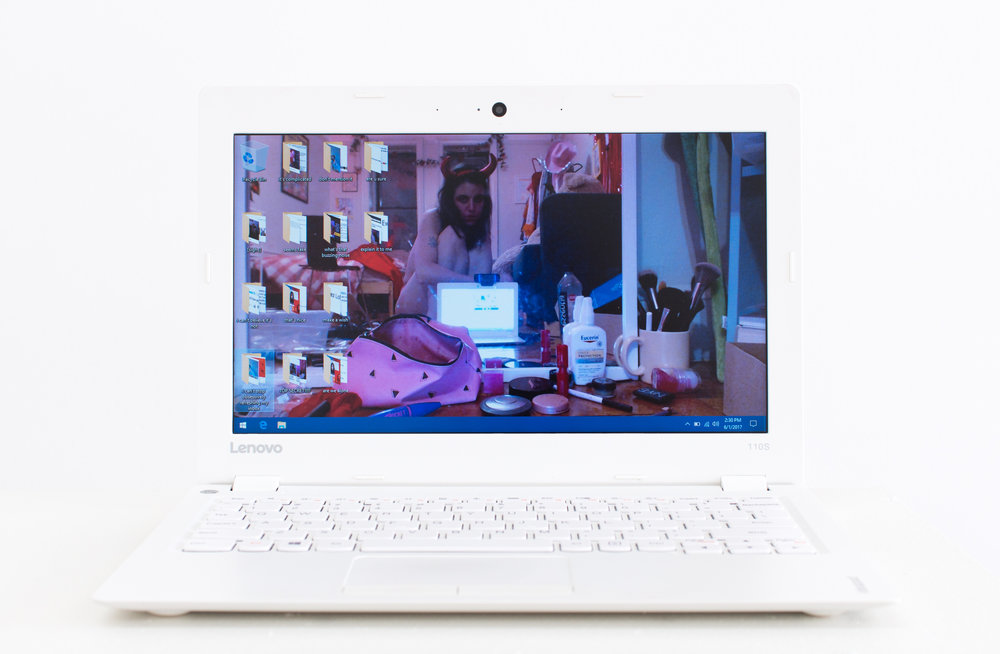Molly Soda   Just Be Yourself,  2017 Lenovo laptop with digital media files