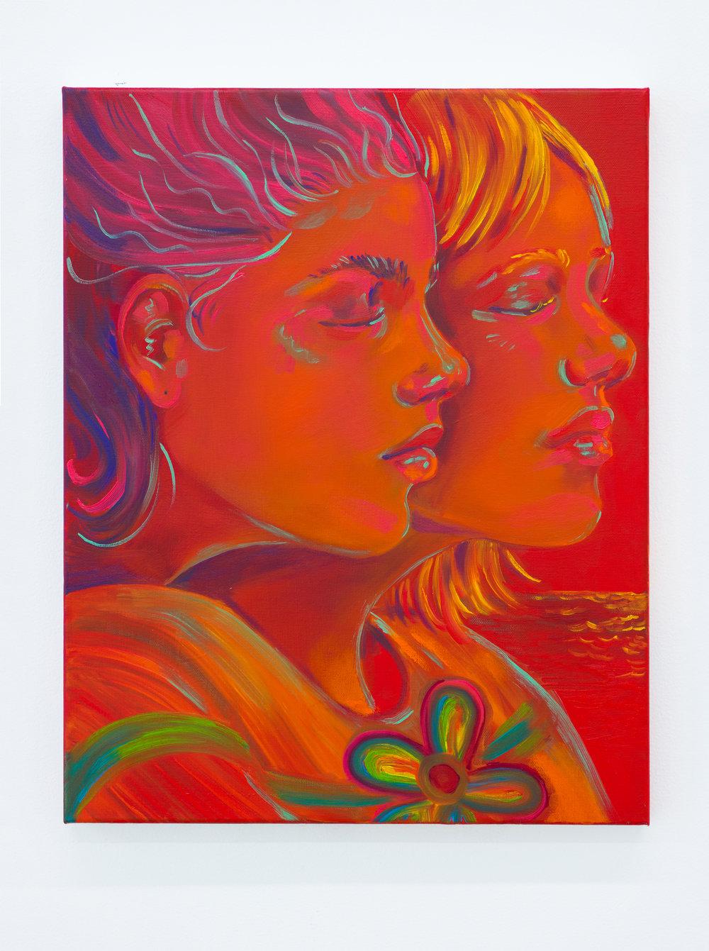 Haley Josephs   Memory Eternal,  2018 Oil on canvas 20 x 16 inches