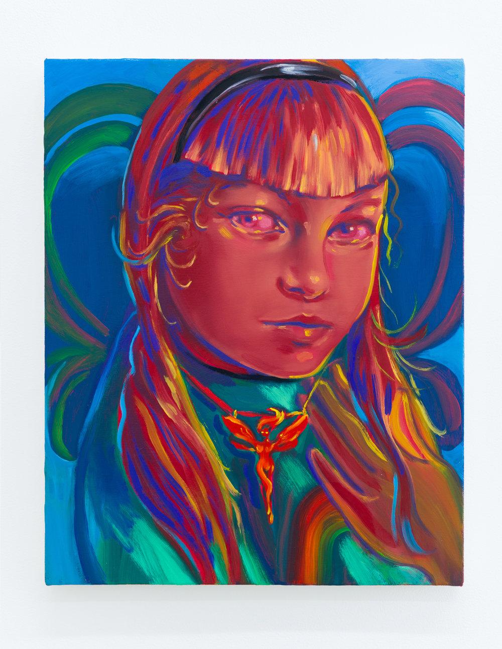 Haley Josephs   Fairy,  2018 Oil on canvas 20 x 16 inches