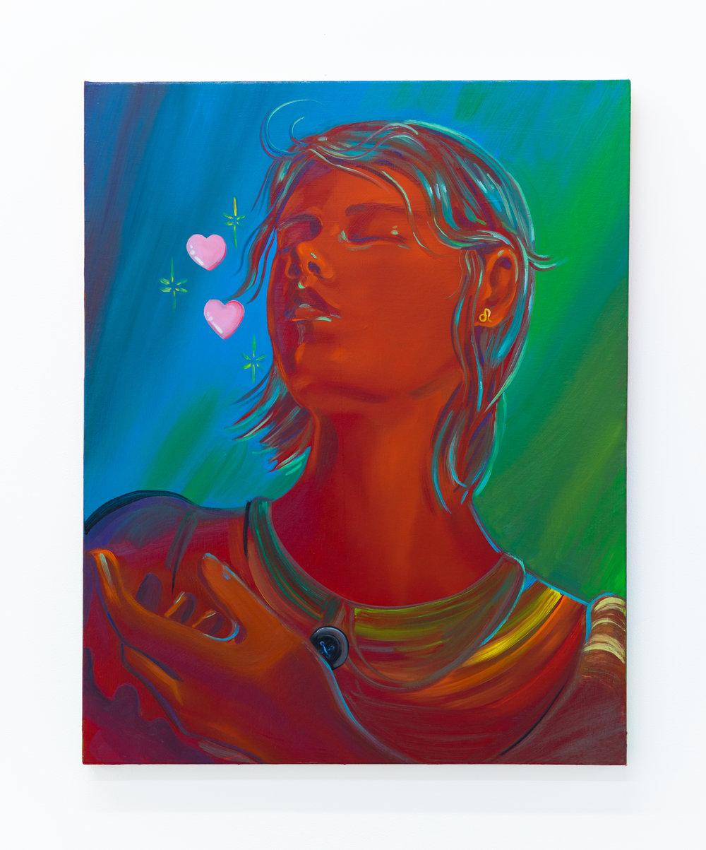 Haley Josephs   Hum,  2018 Oil on canvas 30 x 24 inches