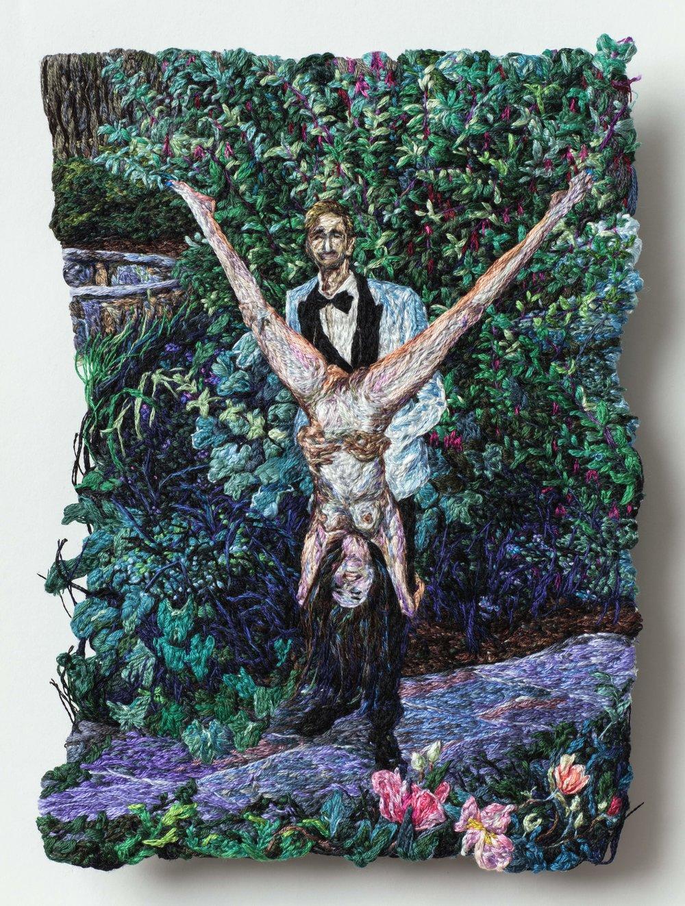 Grin, Sophia Narrett, 2019, Embroidery Thread, Fabric, 5.5 x 7.75 inches 2-min.jpg