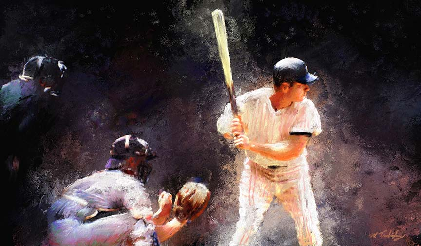 """New & Available: Purchase your sport passion in a fine art, artist embellished """"giclee"""" canvas. Click/tap the image for a larger view. Visit the Shop link for purchase."""