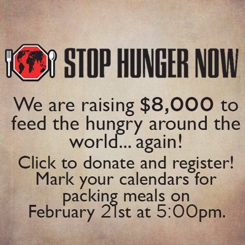 Gather with the church to provide thousands of meals for the hungry around the world.