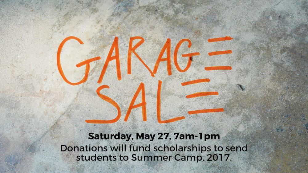 valley view garage sale fundraiser camp