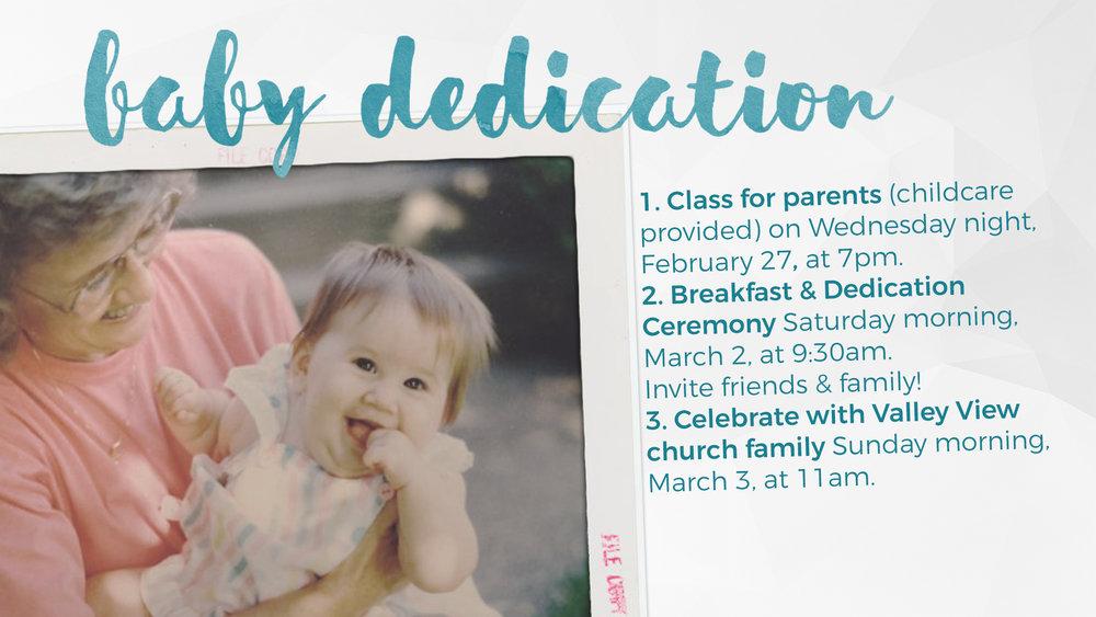 nondenominational baby dedication