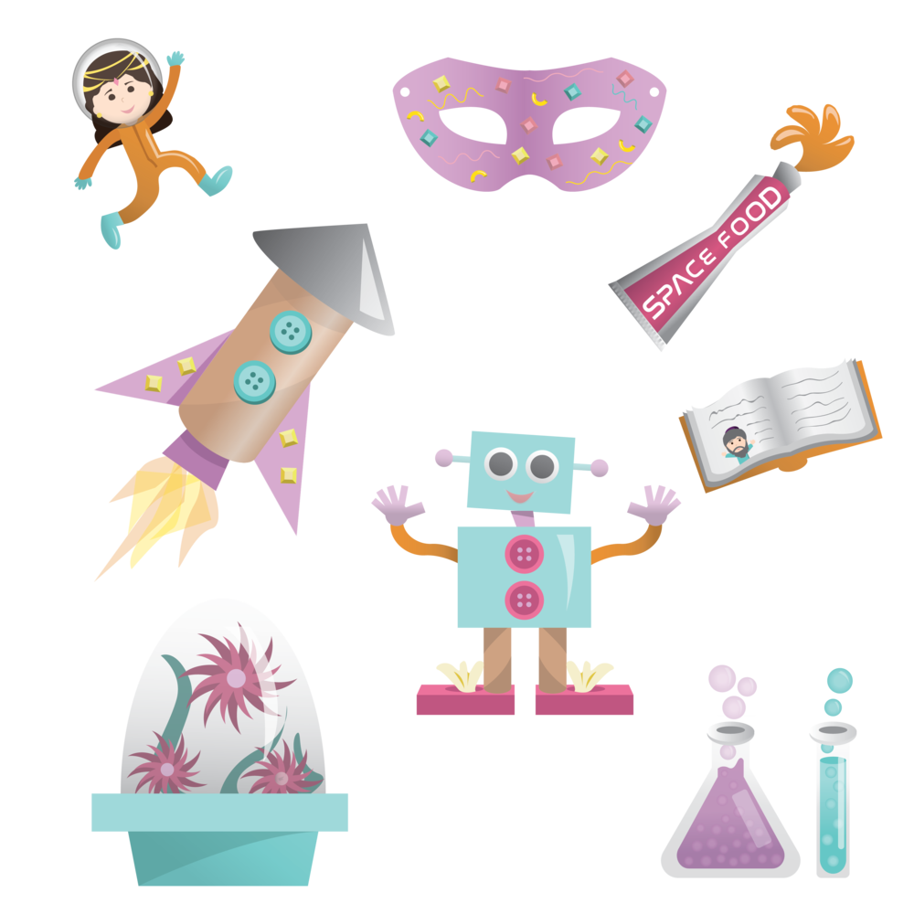 "ICONS FOR ""PURIM IN SPACE,"" DIGITAL"