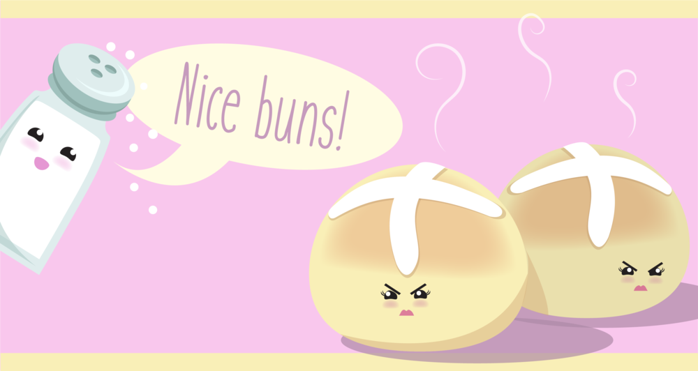 "FOOD PUNS III: HOT ""CROSS""-ED BUNS"