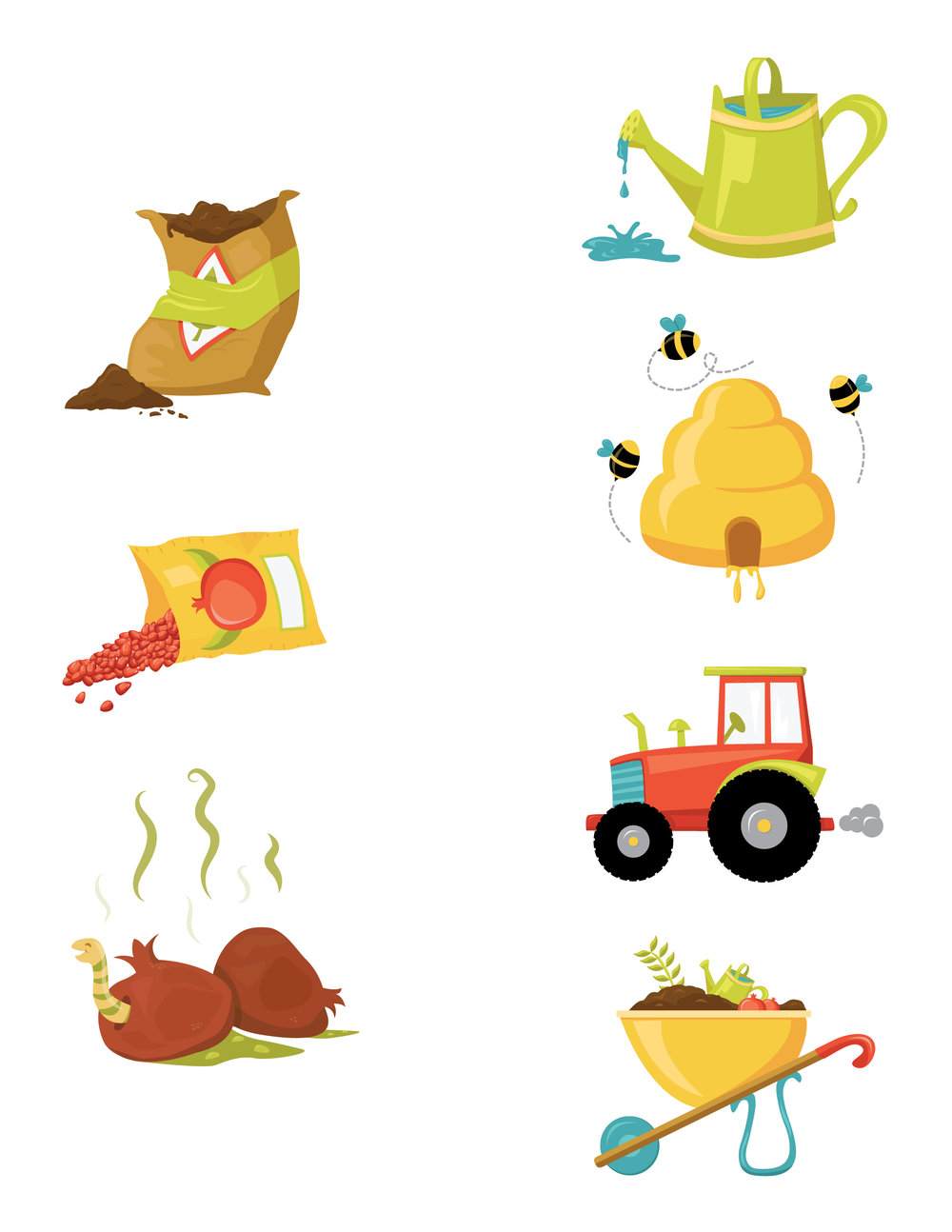 "ICONS FOR CHILDREN'S GAME ""POMEGRANATE PLANET'"