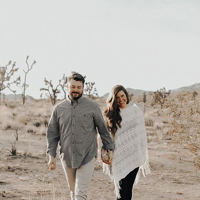 ★ happy sunday, earth day & one year anniversary to these two love birds ! i figured a shot from their joshua tree engagement was very fitting for today . xo #carolineelizaco