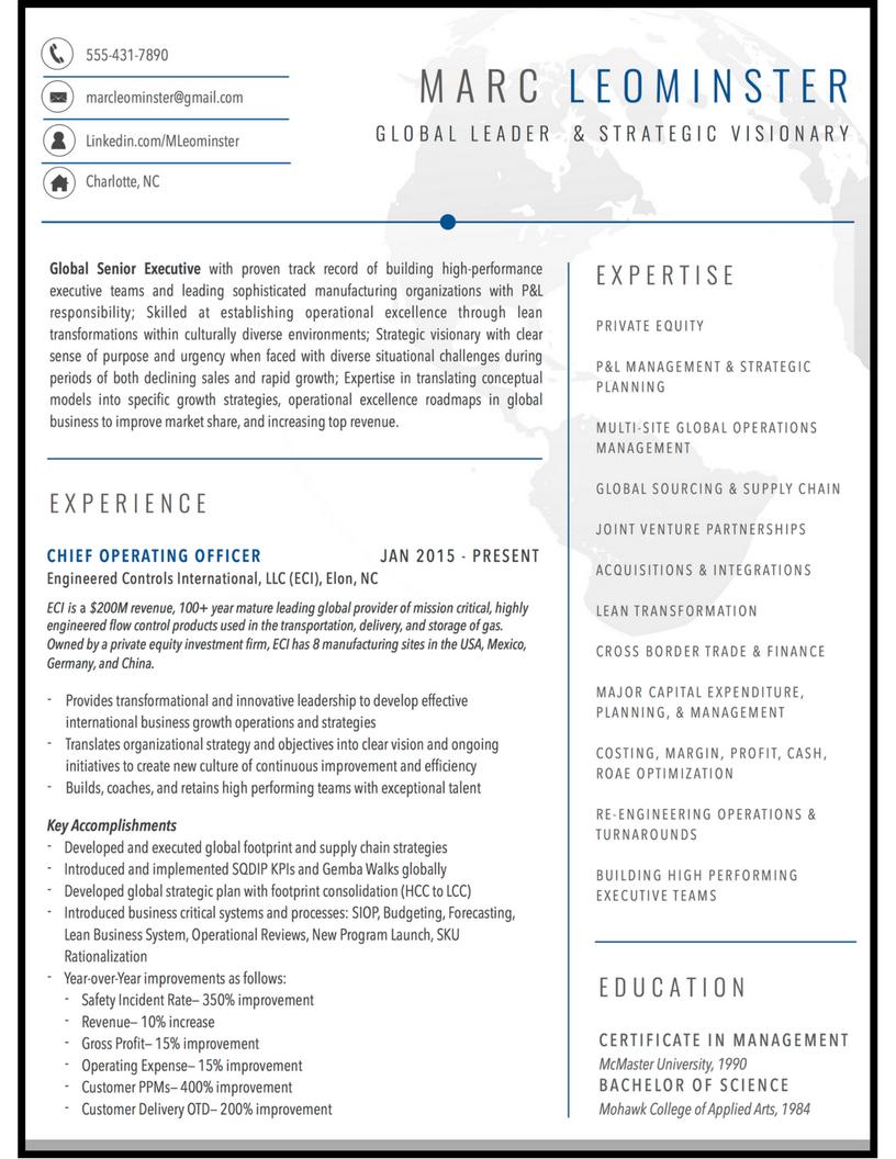 global leader resume