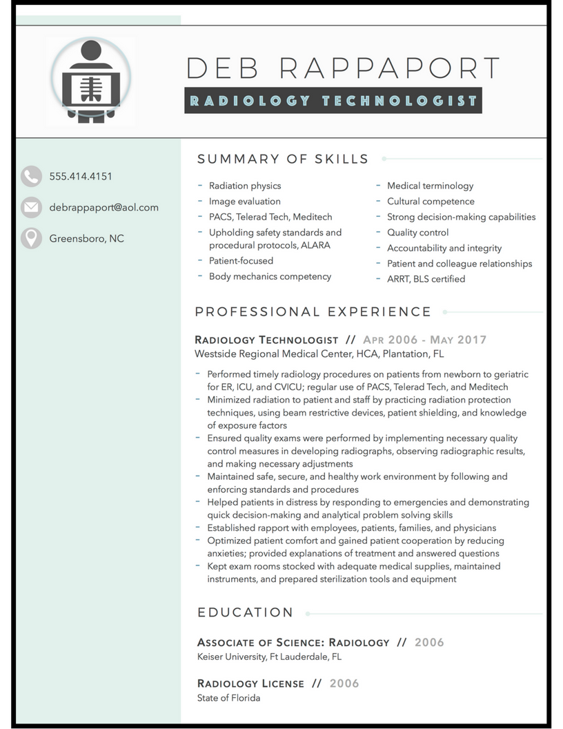 lab tech resume