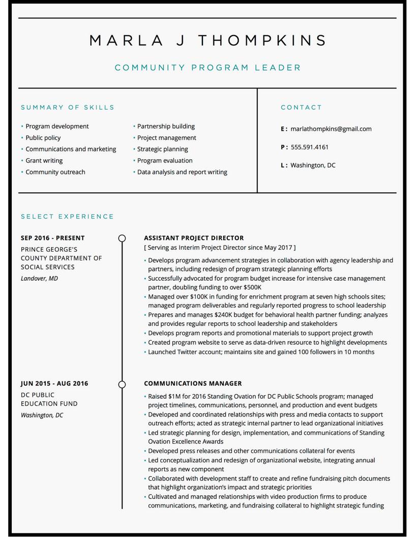 Program coordinator resume