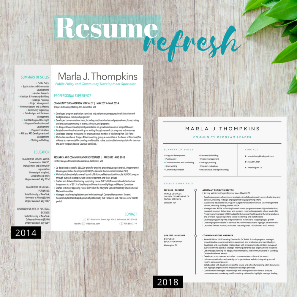 resume refresh