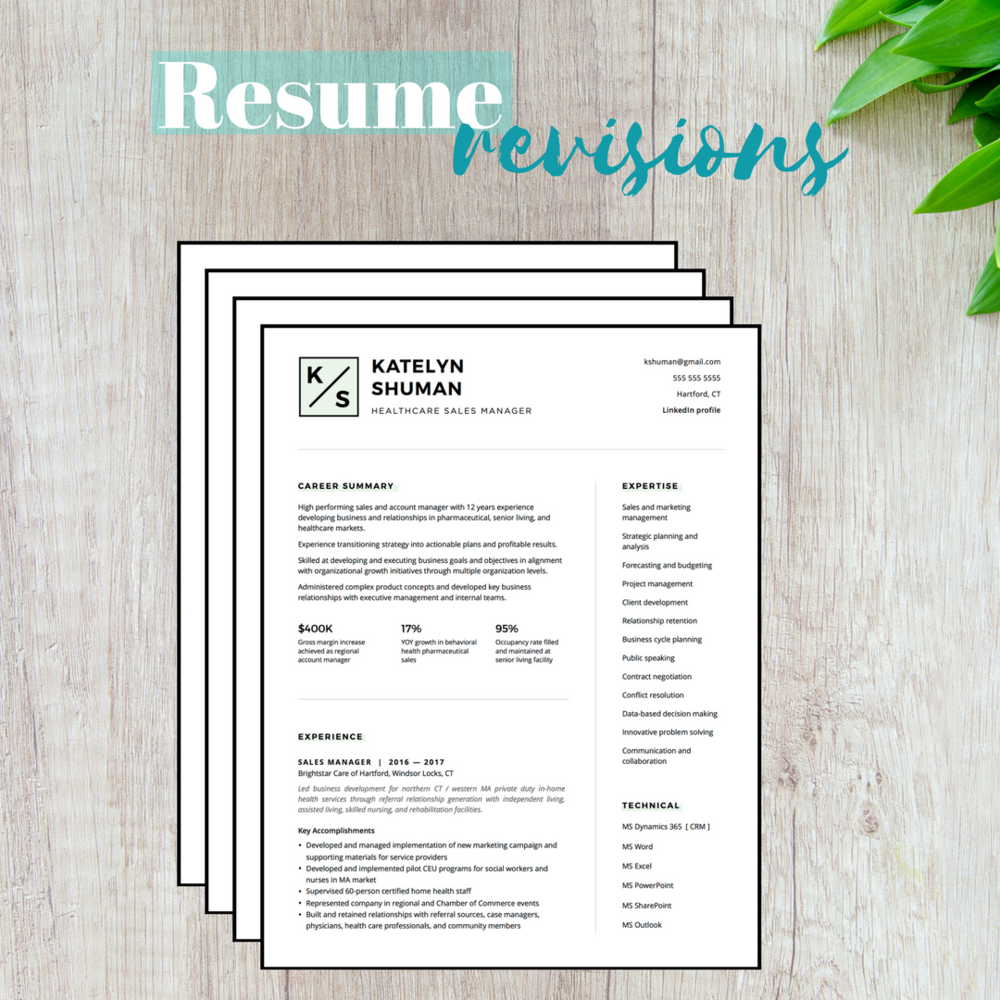 resume revision packages