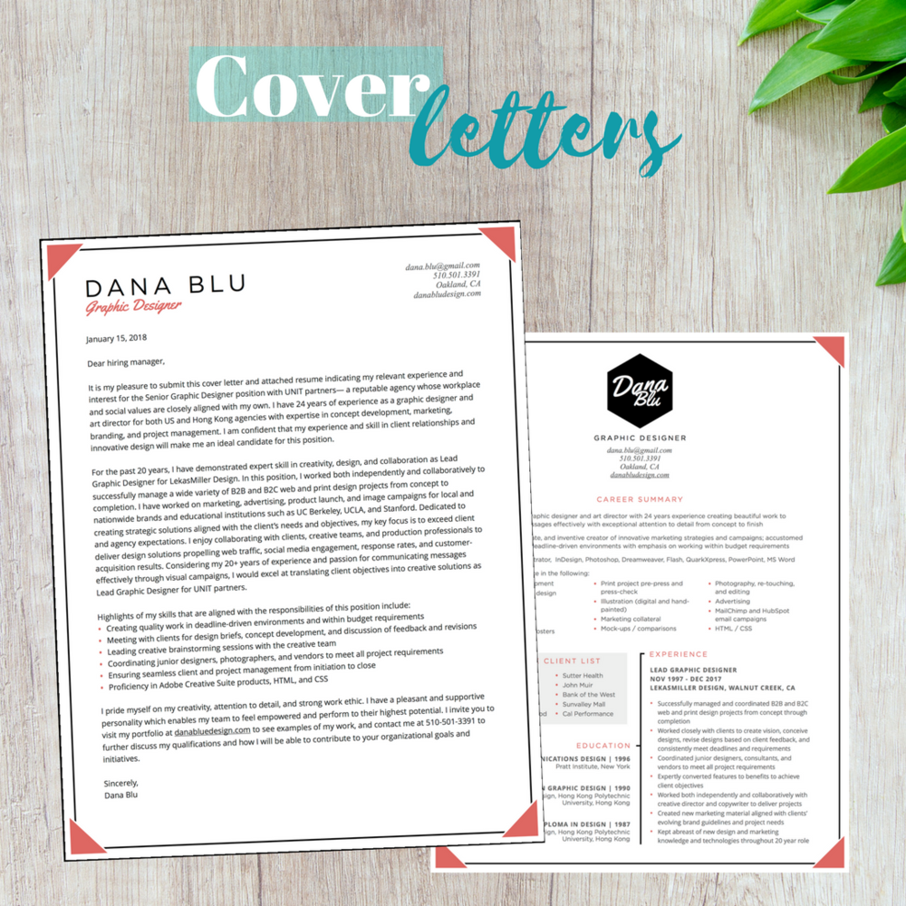 cover letter packages