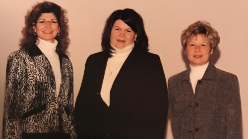 Judy, Dr. Mentessi and Sue B. at the opening of Distinctive Eyewear in 2003.
