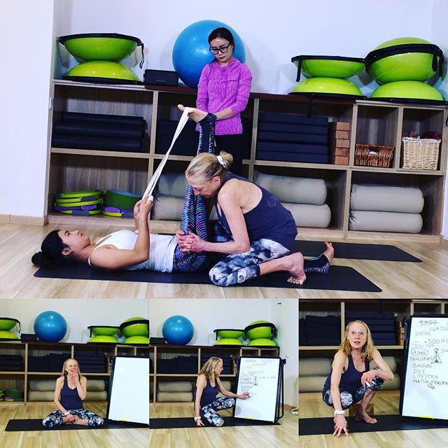 Filming on Hands-on Adjustments and Birth of Hatha Yoga. #onlineyogachina #yogainbeijing #yogainchina
