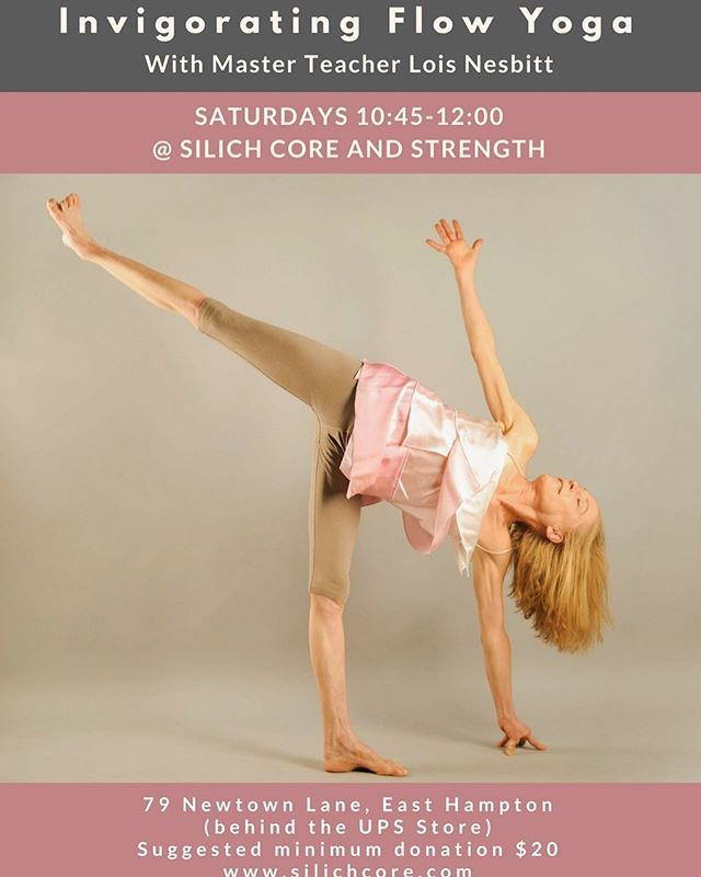Spend your Saturday morning with me! You won't regret it with this invigorating flow class—you'll be feeling energized and great. 10:45am every Saturday @silichcore See you there!