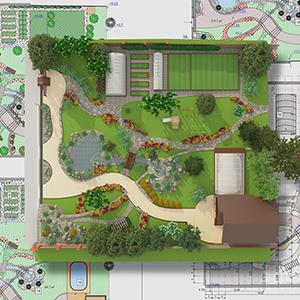 blueprints of landscape design concept